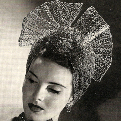 Knitted Mesh Turban Pattern