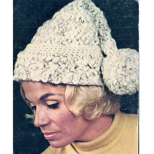Bulky Knitted Stocking Cap pattern with pompom