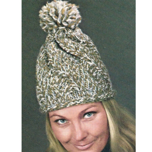 Knitting Pattern, Conical Stocking Cap from Vintage Knit Crochet
