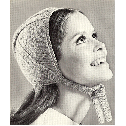 Knitting Pattern, Helmet with Neck Ties