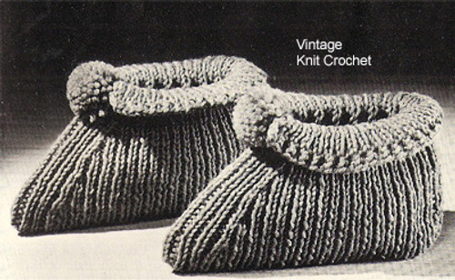 Vintage Knitted Bed Socks Pattern