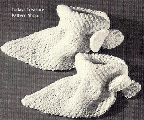 Vintage Bed Socks Knitting Pattern