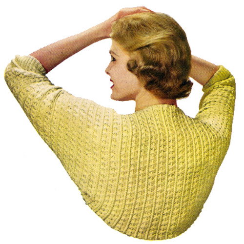 Knit Crochet Long Sleeve Shrug Pattern