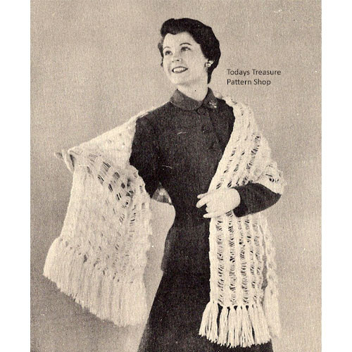 Knitted Glam Stole Pattern
