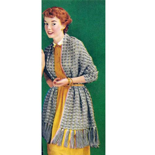 Knitting Pattern, Long Vintage Stole