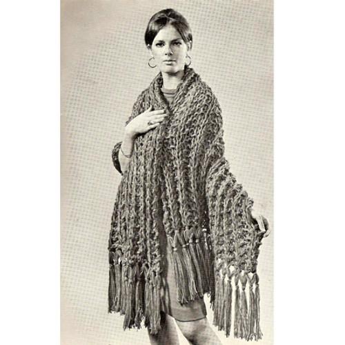Free Big Needle Knitting Pattern, Easy Stole