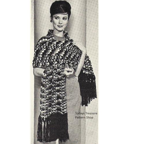 Vintage Crazy Stole Knitting Patterm