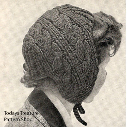 Vintage Cable Jibber Hat Pattern For Girls