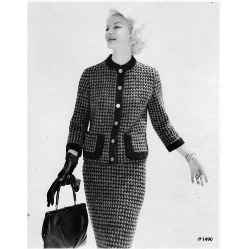 Knitting Pattern Vintage Checked Suit
