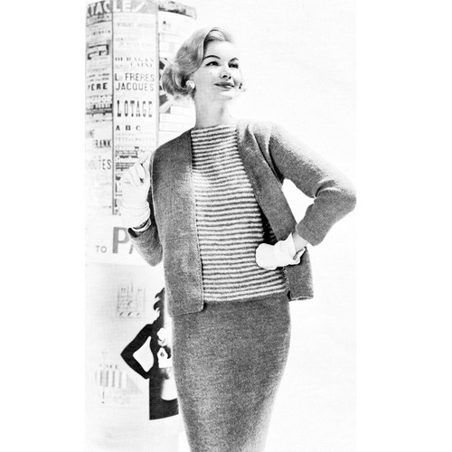 Knitted Three Piece Suit Pattern, Ungers Les Coraux