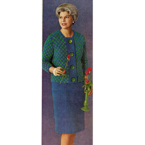 Vintage Knitted Jacket Skirt Suit Pattern