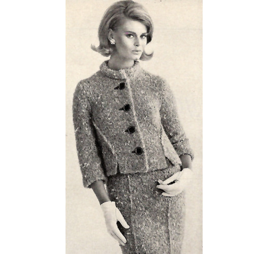 Loose Fitting Knitted Suit Pattern in Bernat Jaeger