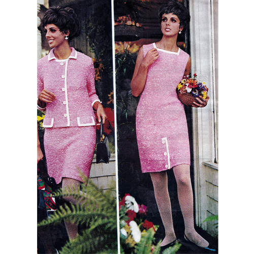 Two Piece Knitting Pattern, Dress & Jacket