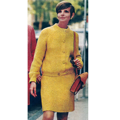 Blouson Suit Knitting Pattern in Unger Parma