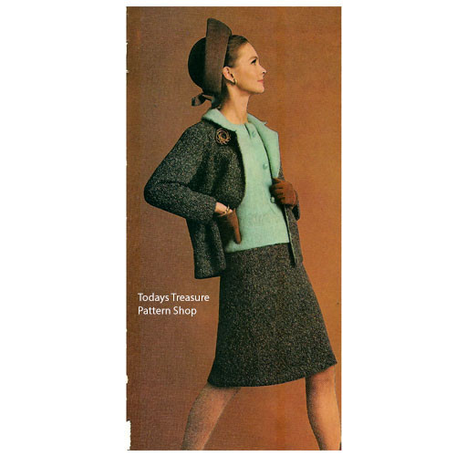 Three Piece Suit Knitting Pattern in Reynolds Plumage