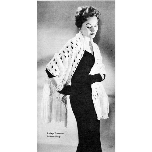 Free Ungers Fluffee Stole Knitting Pattern