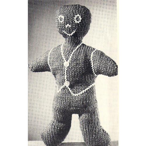 Free Doll Knitting Pattern - Gingerbread Man