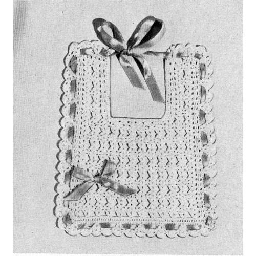 Free Baby Bib Crochet Pattern in Shell Stitch