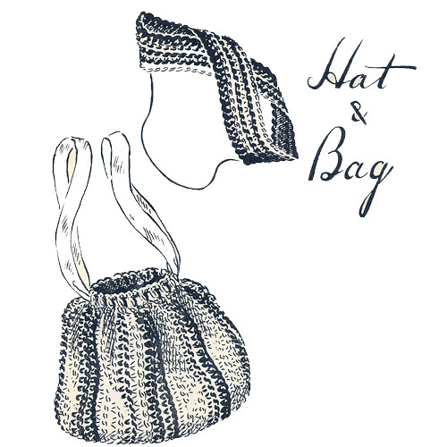 Anne Cabots Crochet Drawstring Bag Hat Pattern