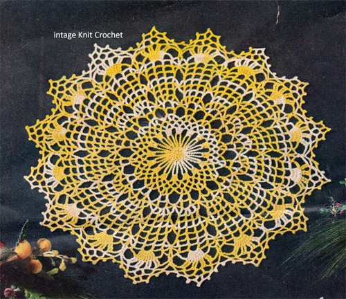 Spiderweb Crocheted Doily Pattern