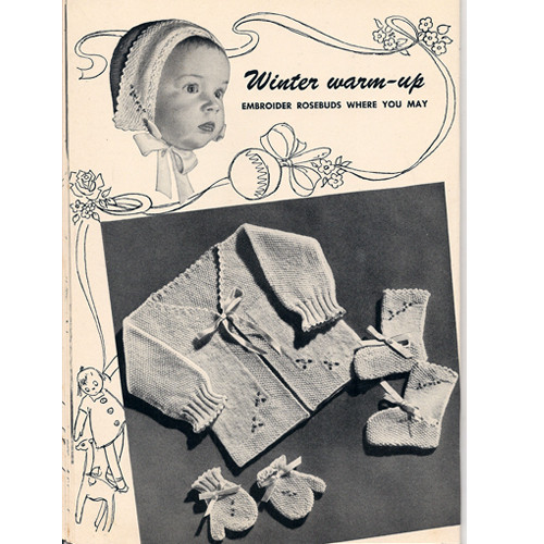 Vintage Five Piece Baby Set Knitting Pattern