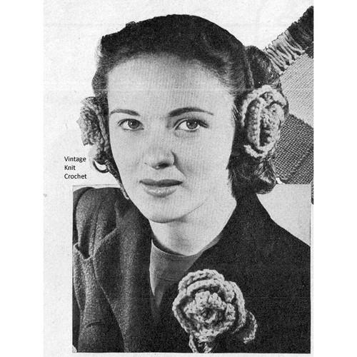 Free Crochet Rose Boutonniere Pattern