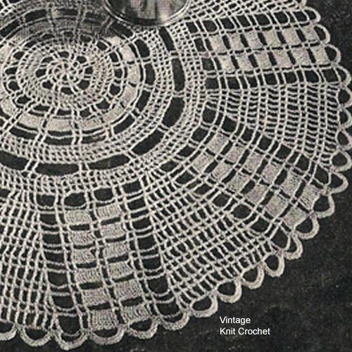 Vintage Wheel Doily Knitting Pattern