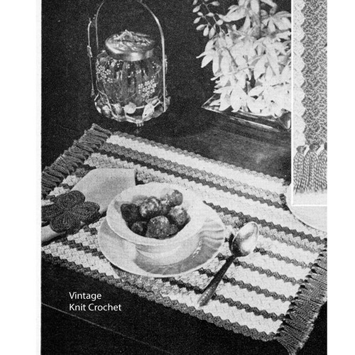 Crocheted Brunch Mat Pattern, Striped