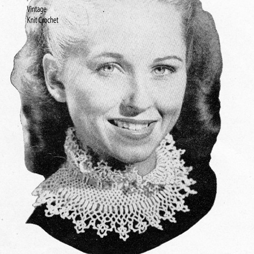 Crochet turtleneck ruffled collar pattern