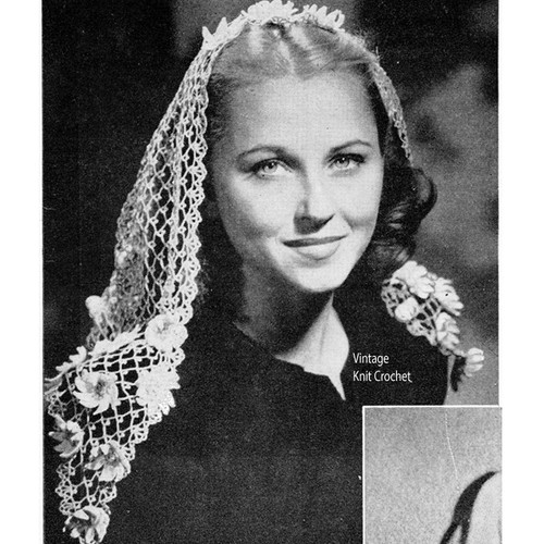 Vintage Fascinator Head Scarf Pattern