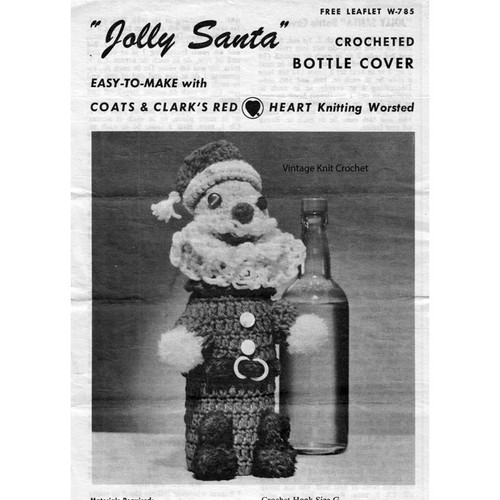 Free Crochet Santa Bottle Cover Pattern