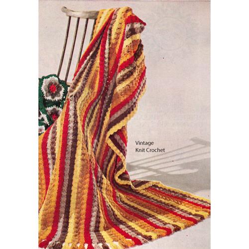 Shell Stitch Afghan Crochet Pattern