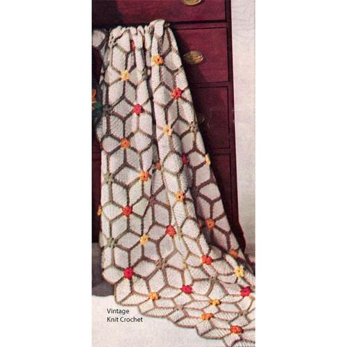 Vintage Sparkler Crocheted Afghan Pattern