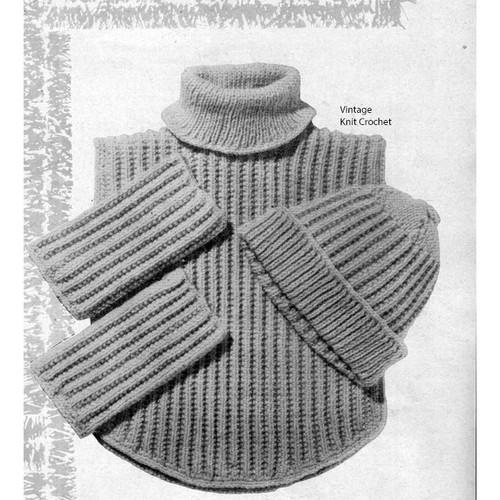 Ribbed Dickey Knitting Pattern