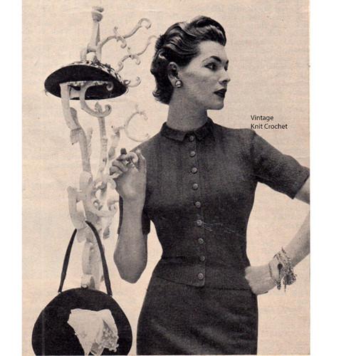 Vintage Cardigan BLouse Knitting Pattern