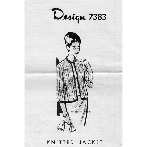 Alice Brooks  7373, Womans Knit Jacket Pattern