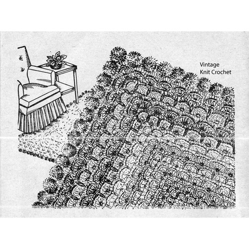 Vintage Workbasket Crochet Rug Pattern