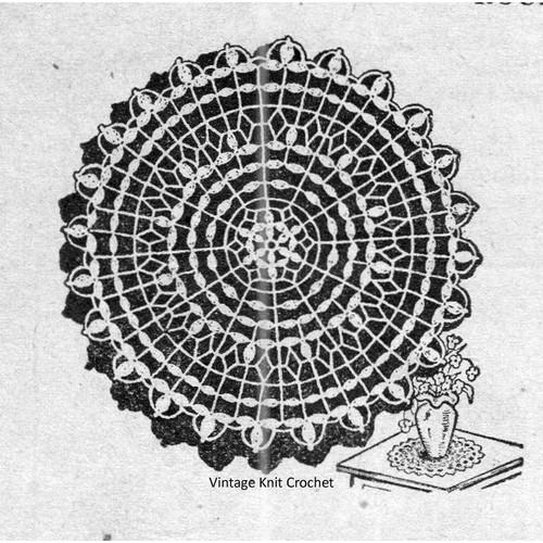 Round Doily Crochet Pattern from Workbasket