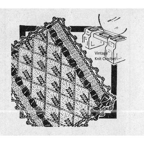Vintage Knitted Scarf Mats Pattern