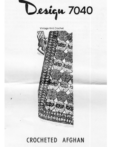 Shell Afghan Crochet Pattern, Mail Order 7040