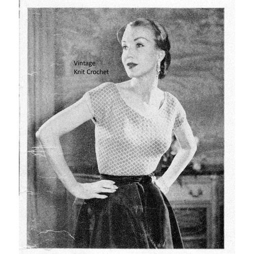 Knitted Evening Blouse Pattern in Columbia Marcelaine