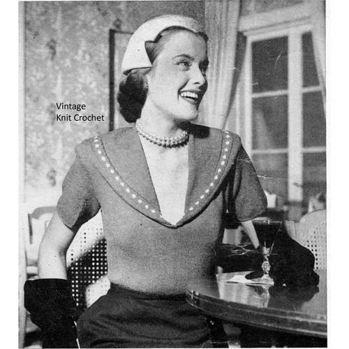 Boucle de Laine Knitted Blouse Pattern