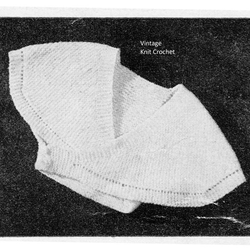 Vintage Knitted Infant Surplice Pattern