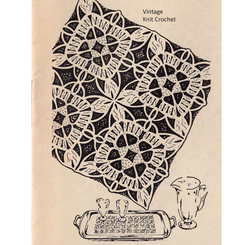 Vintage Crochet Cloth Pattern of Square Medallions