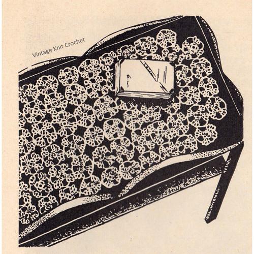 Vintage Workbasket Scarf Tatting Pattern