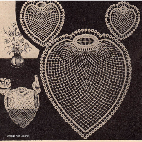 Crochet Pineapple Mats Pattern, Vintage Workbasket Magazine