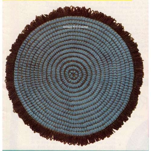 Hearthside Crochet Rug Pattern, Fringe Border