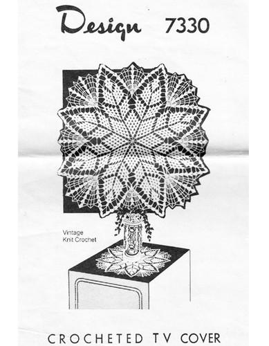 Crochet Star TV Doily Pattern, Mail Order Design 7330