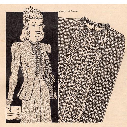 Vintage Crochet Lace Vestee Pattern
