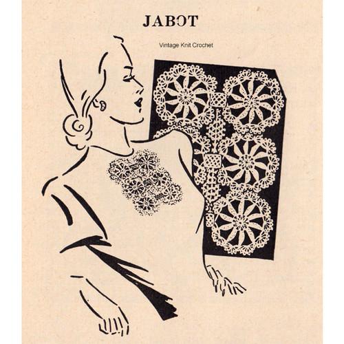 Medallion Jabot Crochet Pattern